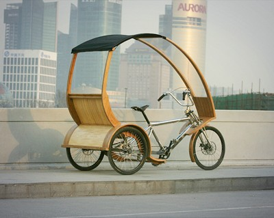 Shanghai's 1st Bamboo Tricycle